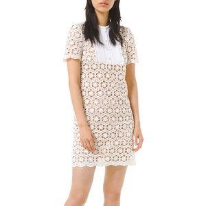 Michael Kors Sequin Floral Lace Shift Dress